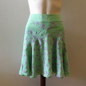 MARC JACOBS mint green mini skater skirt 10 large